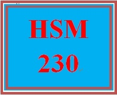 HSM 230 Week 1 Legal Considerations