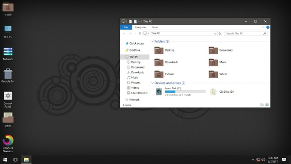 Numix Windows Brown IconPack