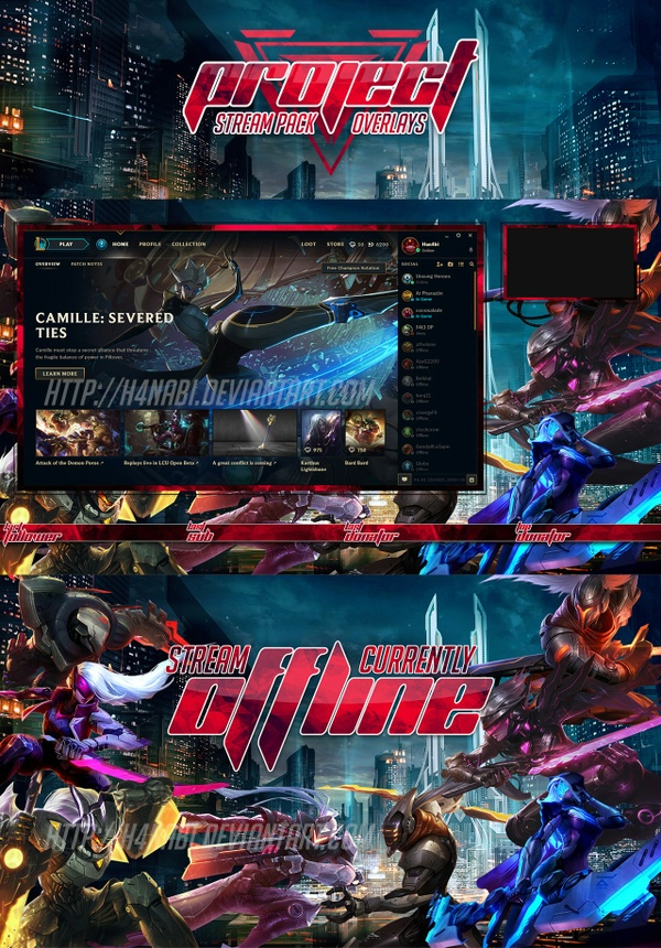 League of Legends PROJECT STREAM PACK Overlays