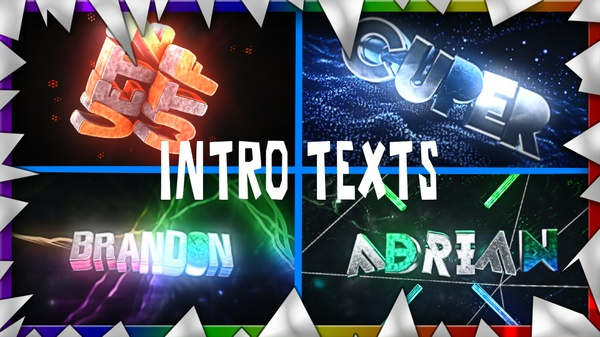 INTRO 3D (Texts) - ON
