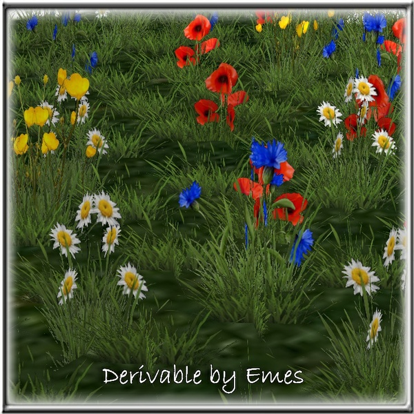 SPRING GRASS AND FLOWERS MESH