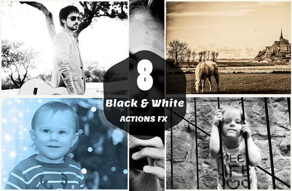 8 B&W Photoshop Action V-1