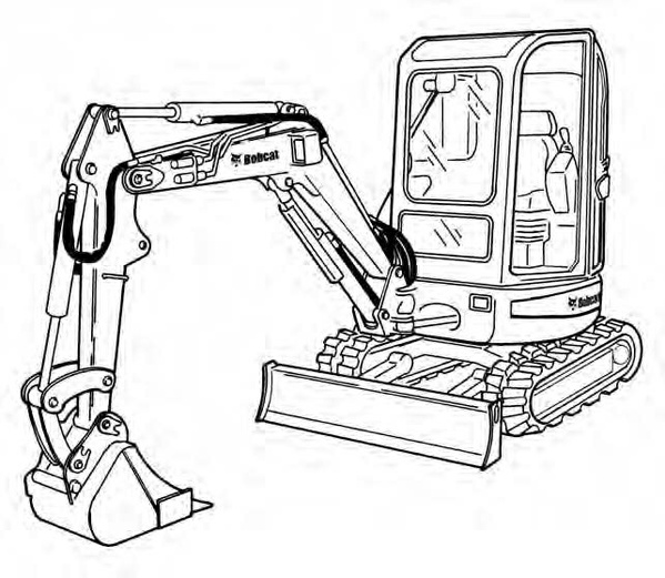 Bobcat 425 428 Compact Excavator Service Repair Manual Download(S/N A1HW11001 & Above ...)