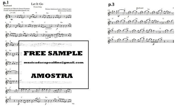 Let It Go - Keyboard - Download (Frozen song) Sheet Music