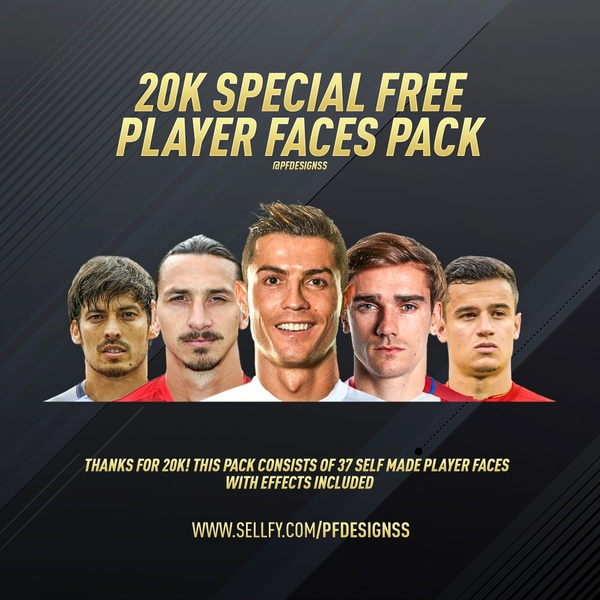 20K FREE PLAYER FACES PACK BY @PFDESIGNSS