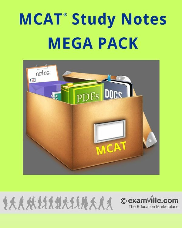 MCAT Study Review Notes - MEGA PACK (900+ Pages)