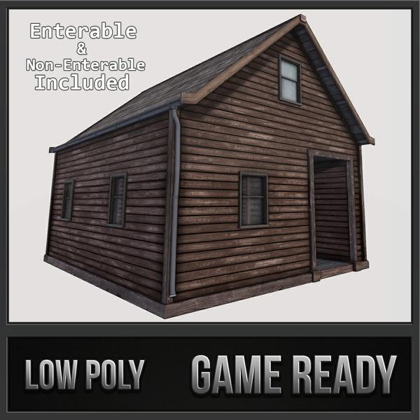 Boston House 04 - Enterable | 3D Low Poly Models