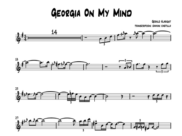"Gerald Albright - ""Georgia On My Mind"" - Sax alto."