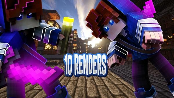 PACK DE 5 RENDERS