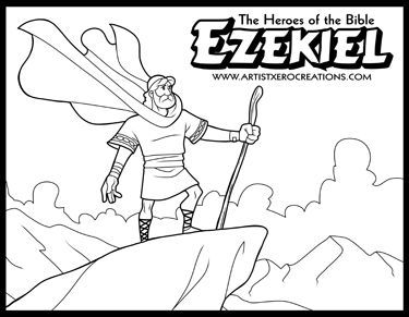 the heroes of the bible coloring pages ezekiel