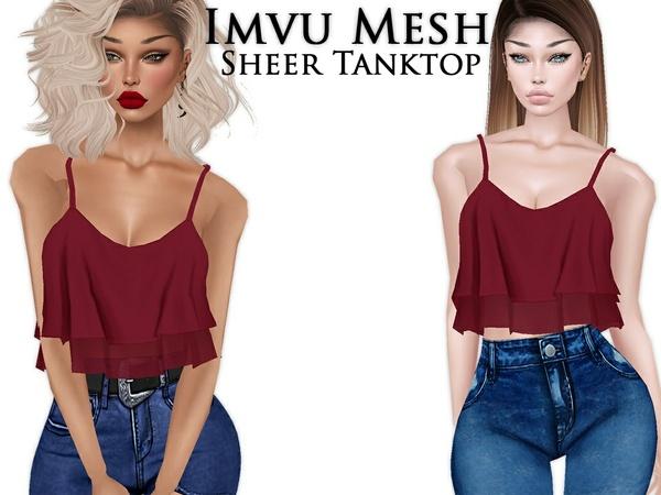 IMVU Mesh - Tops - Sheer Tanktop