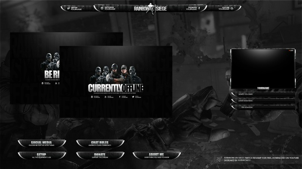 Rainbow Six Twitch Stream Package