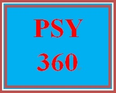 PSY 360 Week 1 Cognitive Psychology Definition Paper