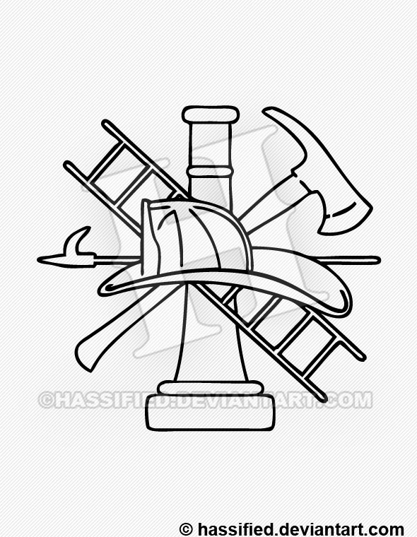 Firefighter Logo - printable, vector, svg, art