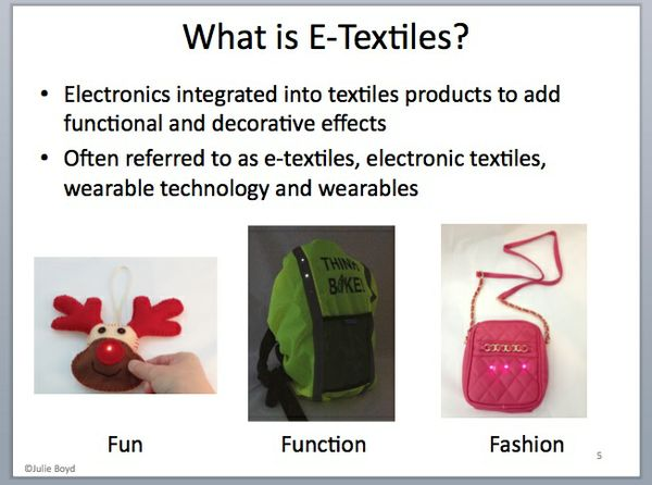 Putting Basic Electronics into Textiles Products