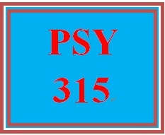 PSY 315 Week 4 Week Four Practice Problems Worksheet