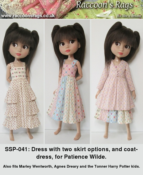 SSP-041: Two dresses and a coat-dress for Patience dolls