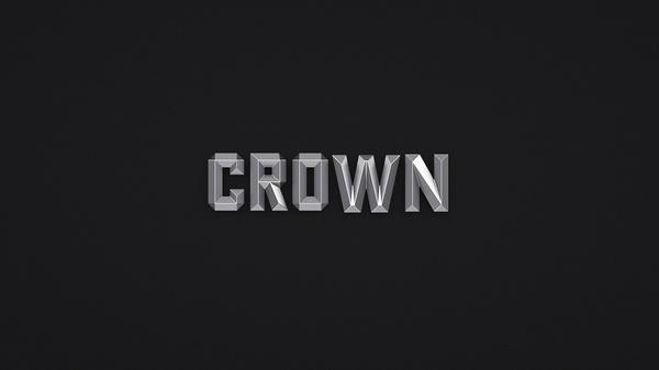 CROWN - 3D Beveld Font