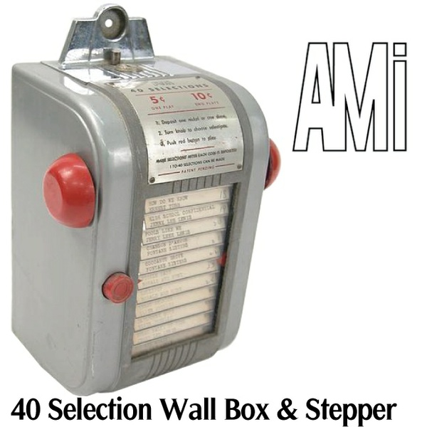 AMI 40 Selection Wall Box & Steppers       (1946)    Manuals & Brochure