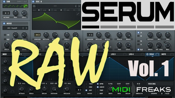 Midifreaks - Serum RAW Vol.1 - Kick & Presets