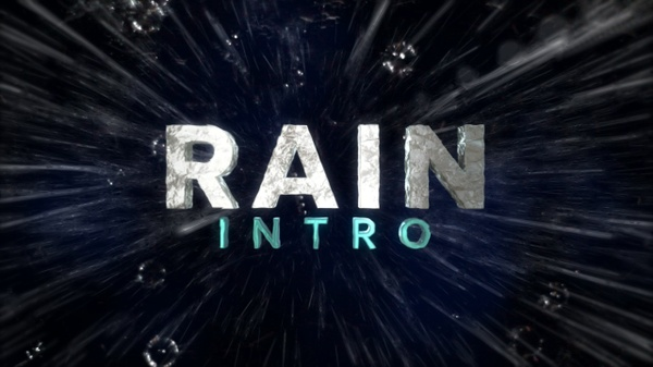 Rain Intro - After Effects Template