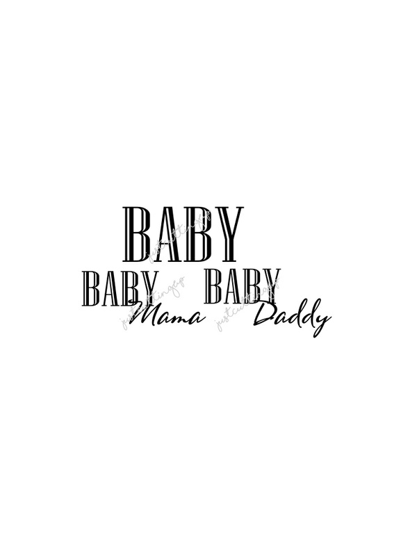 Baby, Baby Daddy, Baby Mama SVG