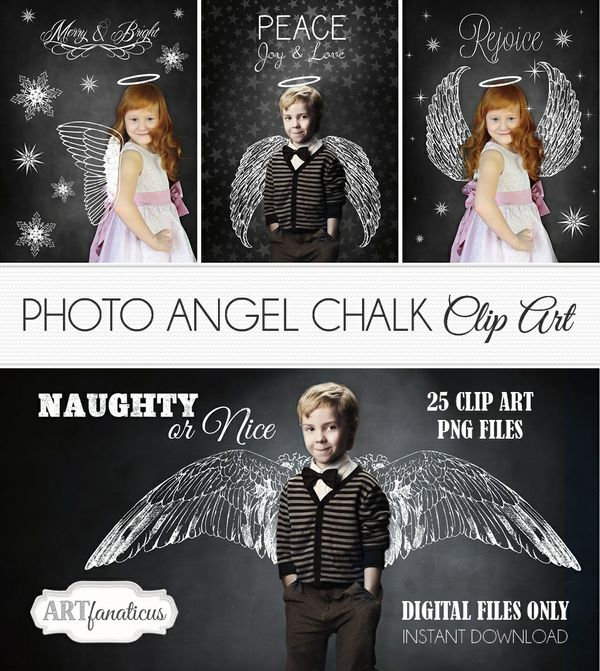 PHOTO ANGEL CHALK CLIPART