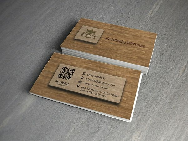 Business Card Wood Style Vol#01