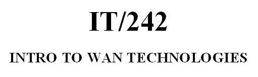 IT 242 Week 8 CheckPoint - WLAN