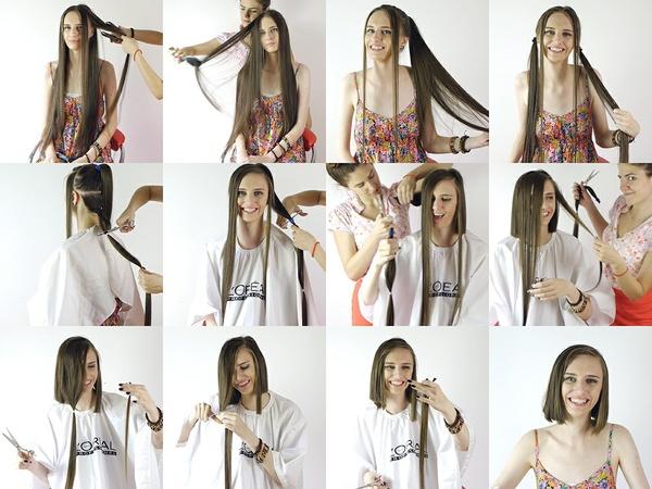 Magdalena Long to Bob Haircut