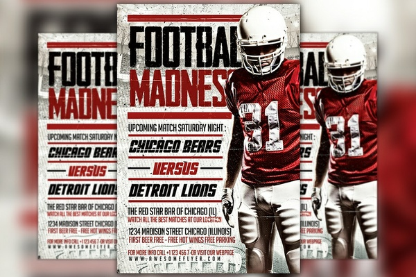 Football Madness Flyer Template