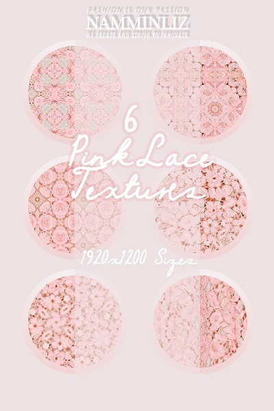 6 Pink Lace Texture