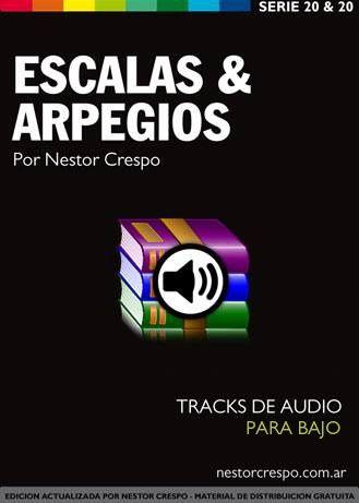 AUDIOS  BAJO / Libro de Escalas y Arpegios - 54 Tracks o Pistas de Estudio