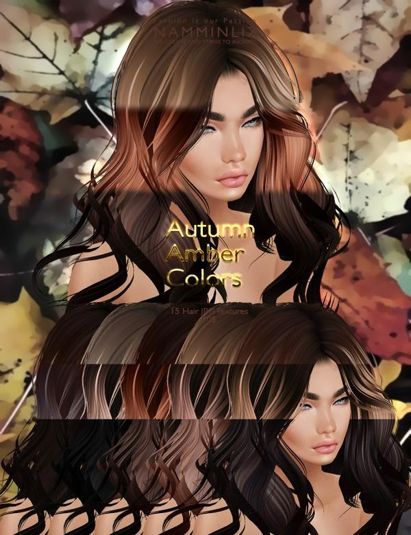 Autumn Amber colors 15 Hair JPG Textures imvu NAMMINLIZ