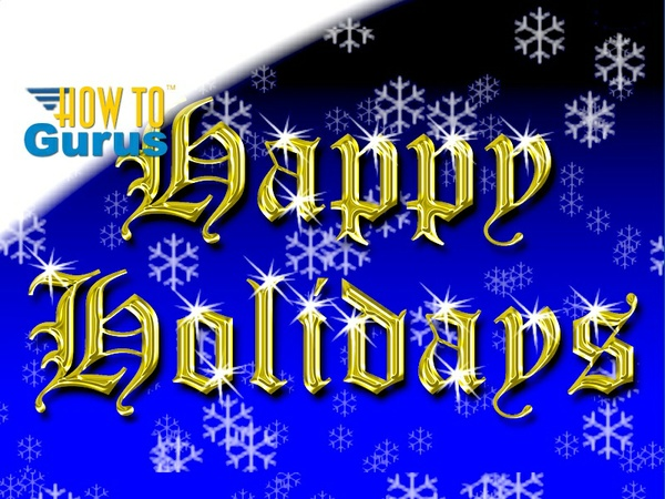 How To Make a Quick Gold Text Holiday Card in Photoshop Elements 15 14 13 12 Tutorial