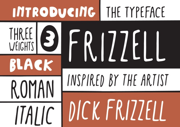 Frizzell Font | Print Files Only | 3x Weights | Retail License