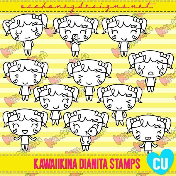 Oh_KawaiiKina_Dianita_Stamps