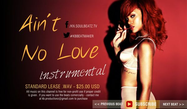 Ballad R&B Rihanna Type Beat - Aint No Love