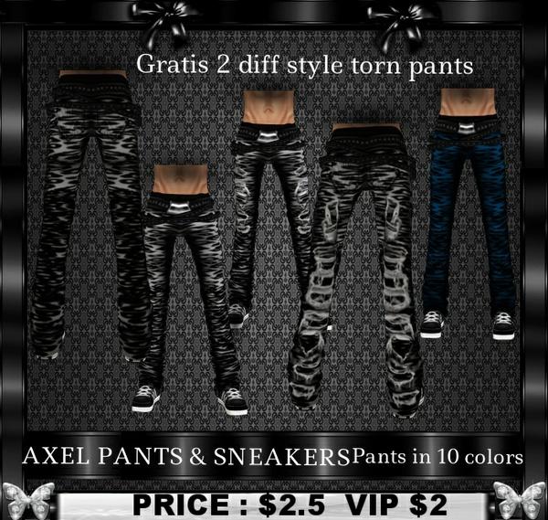 AXEL PANTS & SNEAKERS