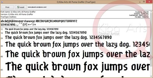 Puma Graffer Font TTF
