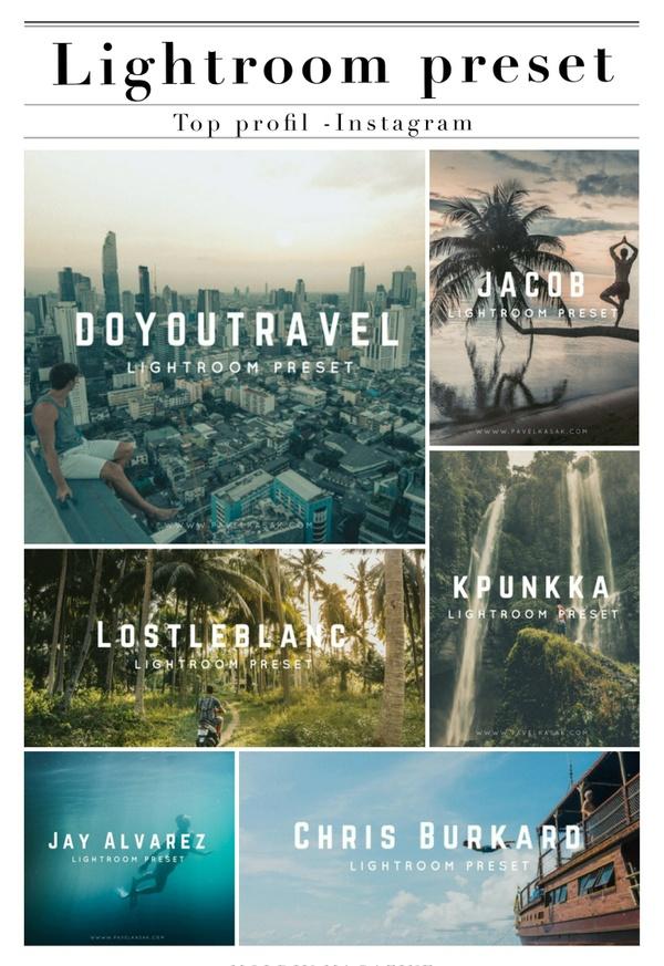 PK - Instagram Lightroom presets - Pack Top profil