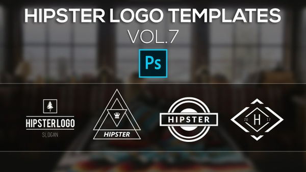Free Hipster Logo Templates Vol.7
