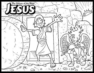 The Heroes of the Bible Coloring Pages: Jesus