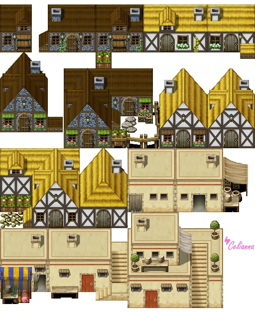 "Celianna's Parallax Tiles ""Medieval Buildings"""