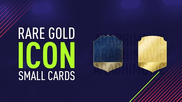 FIFA 18 Rare Gold and Icon Small Cards
