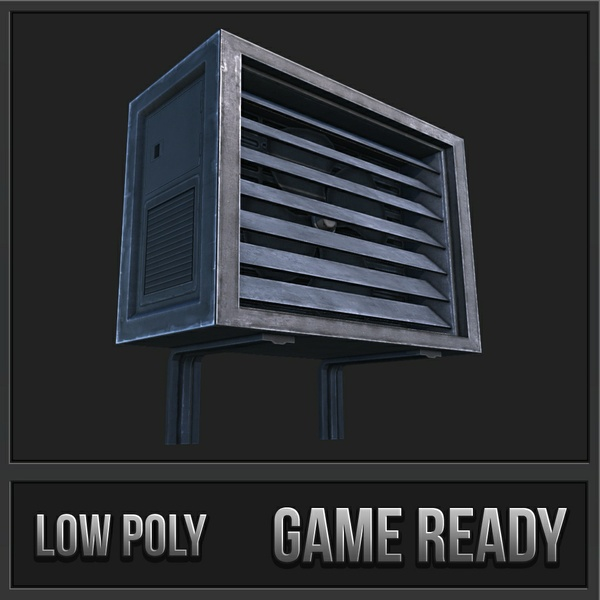 Air Conditioner Unit 01 | 3D Low Poly Model