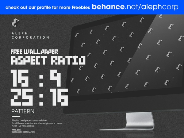 Free 16:9 & 25:16 Aspect Ratio Wallpapers - Pixel Art by aleph corporation