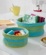 SMC Striped Basket