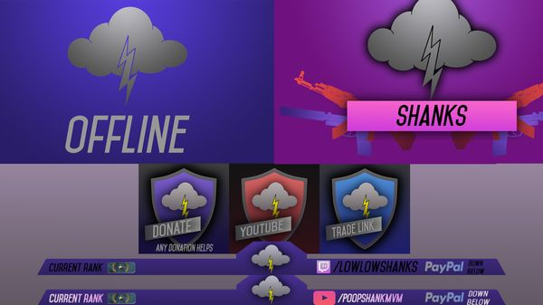 PACKAGE OR INDIVDUAL Logos and Overlays for YouTube and Twitch