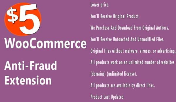 WooCommerce Anti Fraud 1.0.14 Extension